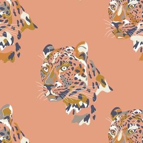 africa africa - leopard head - peach  - small