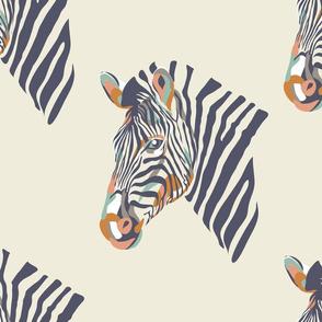 africa africa - zebra head - cream
