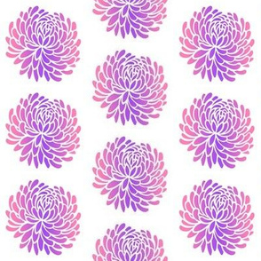 Chrysanthemum Stencil Pink Purple