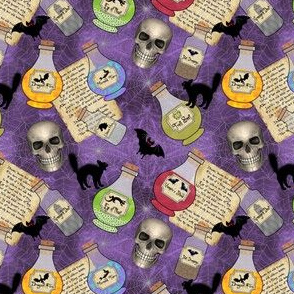 Witches Potion Ingredients Purple