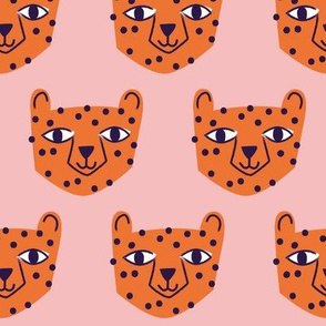 Cheetah Orange on Pink