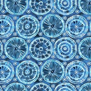 shibori cobalt blue