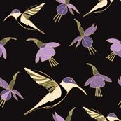 Moody Hummingbird Print