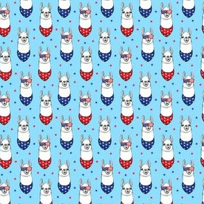"(1"" scale) patriotic llama on blue with stars C19BS"