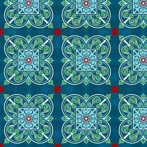 Modern Spanish Tile Rojo
