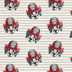 Dalmatian fire dogs   - beige stripes  - LAD19