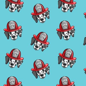 Dalmatian fire dogs   - blue 2 - LAD19