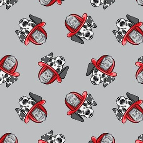 Dalmatian fire dogs  - grey - LAD19