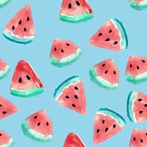 Watermelon Pieces // Sky Blue