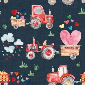 Valentine Harvest // Navy Linen