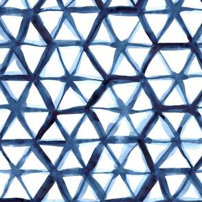 shibori hexagon (large scale)