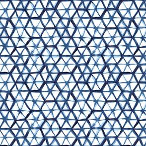 shibori hexagon  (small scale)