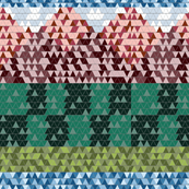 mountain scene triangles