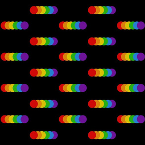 Rainbow minimalist black