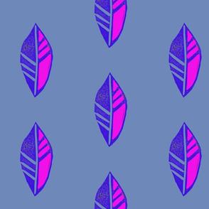 blue pink leaf