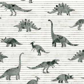 Dinosaurs - Dinos watercolor - muted - LAD19