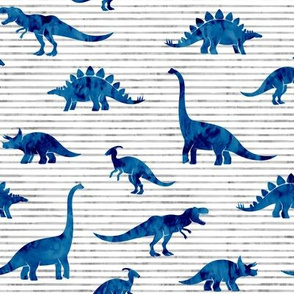 Dinosaurs - Dinos watercolor - blue - LAD19