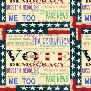 Political - VOTE for Democracy15x12Border Seam