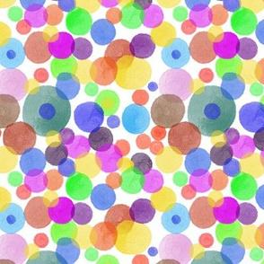 Colorful watercolor dots
