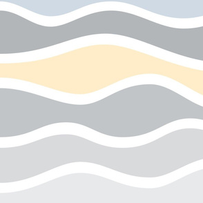 Waves sunset light JUMBO scale