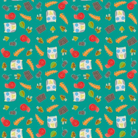 Autumn Owl fabric by shereeboyd on Spoonflower - custom fabric