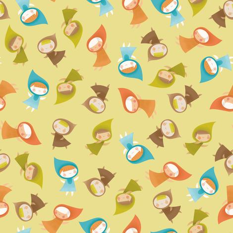 Wee Woodland fairies fabric by shereeboyd on Spoonflower - custom fabric
