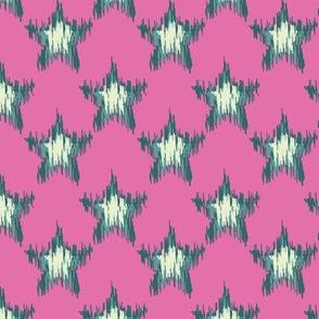 Ikat Star (Pink)