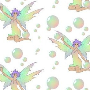 Bubble Fairy Sitting Purple