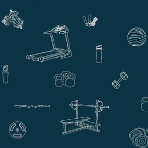 Gym equipment dark teal