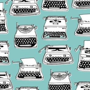 typewriters - turquoise