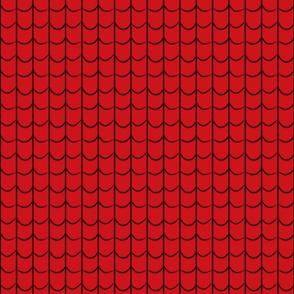 Webbed Black on Red