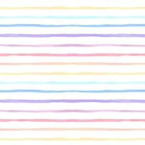 watercolor rainbow stripes