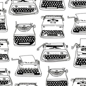 typewriters - black + white