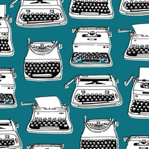 typewriters - teal