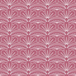 Art Deco scallop fanned flower repeat