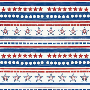 Painted Stars and Stripes