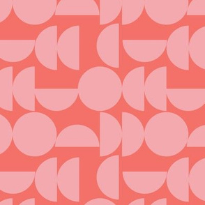 coral and pink semicircles
