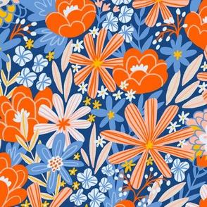 Blossoming garden