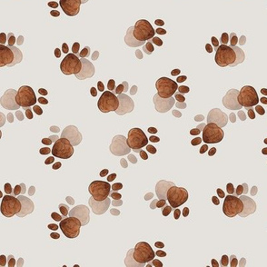 Paw prints on taupe