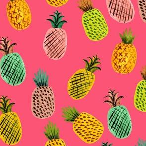 Summer Pineapple // Hot Pink