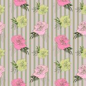 Vintage Striped Flowers