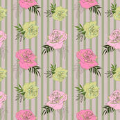 Vintage Stripped Flowers