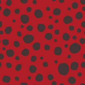 Ladybug Black and Red Dots - Smallest