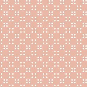 festival polka dot-peach