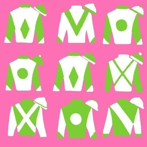 Version 2 - Jockey Silks, Preppy pink and green