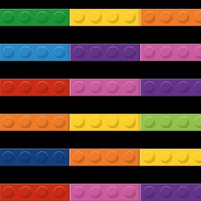 Retro Toys, Retro Toy Blocks, Retro Plastic Toys, Stripes Black-01