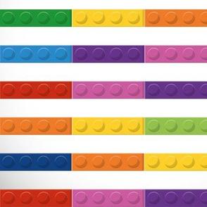 Retro Toys, Retro Toy Blocks, Retro Plastic Toys, Stripes White