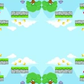 Video Game Retro Background Old School Mario Bros