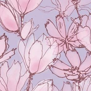 Pastel Floral Lavender Lilac