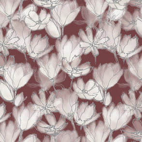 Translucent Florals Tuscan Red